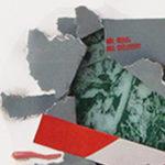 papier-construction, handpainted, silkscreen details - 40x50x0.5cm.