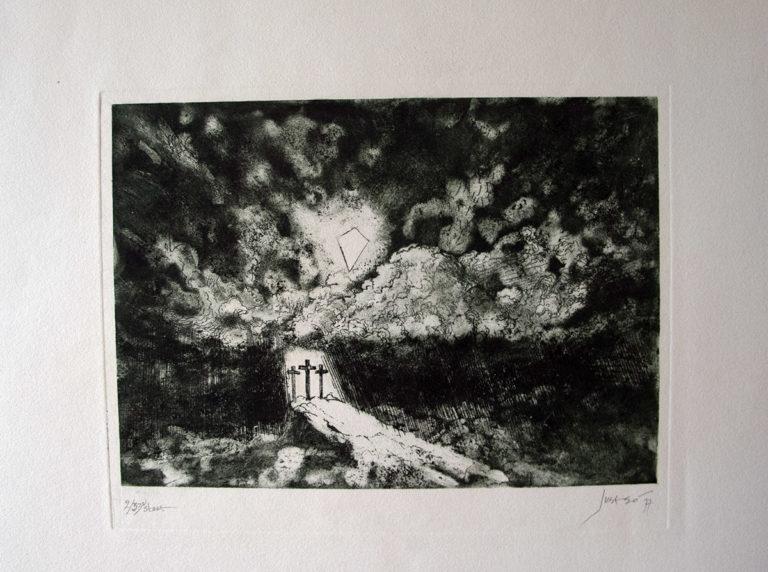 Ets - Aquatint 50 x 65 cm